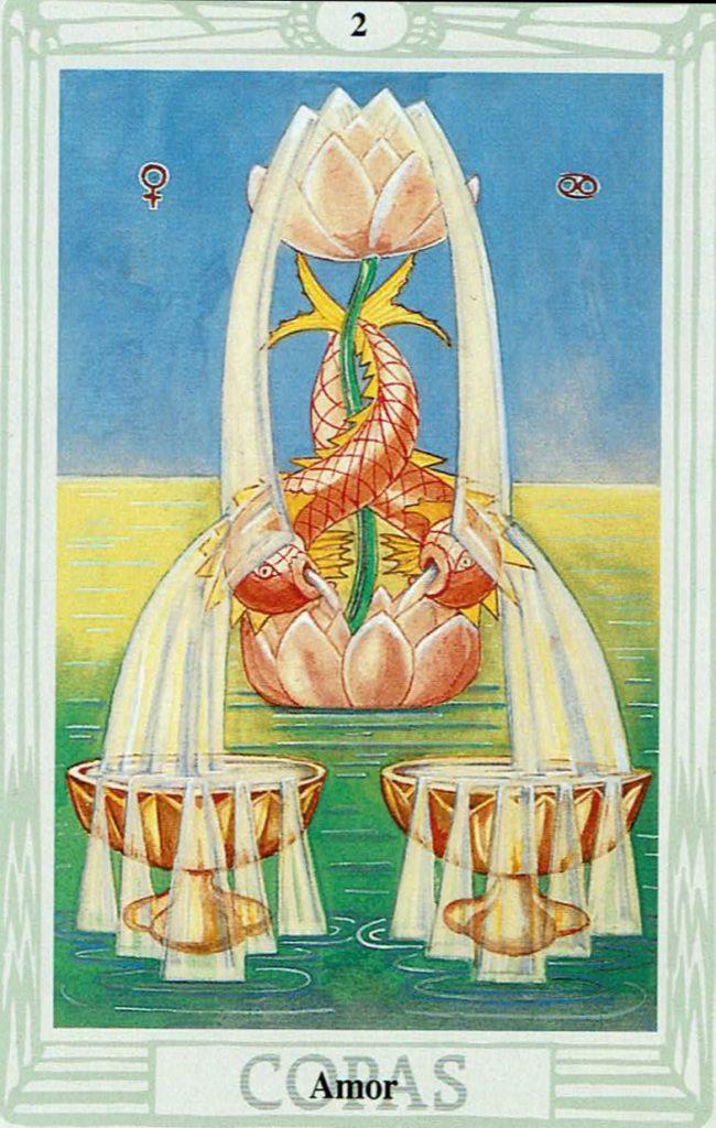 Dos de Copas del Tarot Thoth