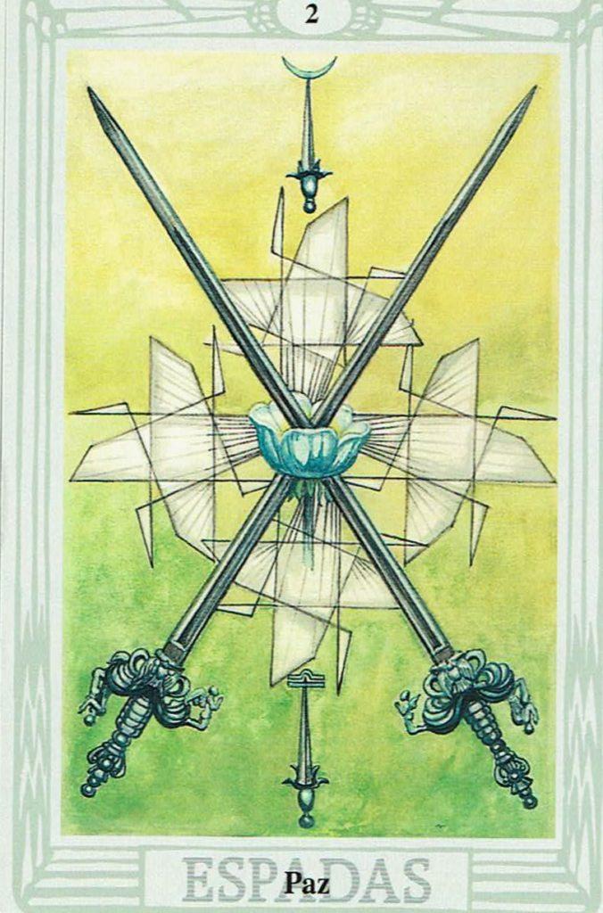 Dos de Espadas del Tarot Thoth