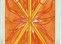 Tres de Bastos del Tarot Thoth
