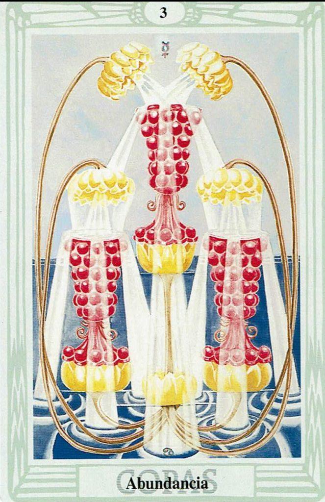 Tres de Copas del Tarot Thoth