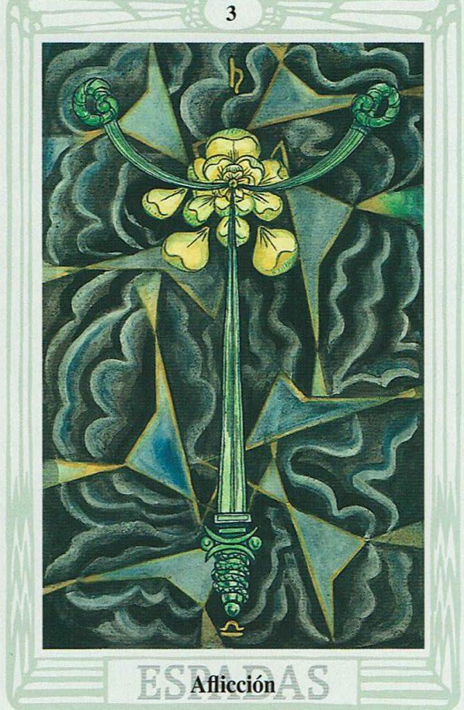 Tres de Espadas del Tarot Thoth