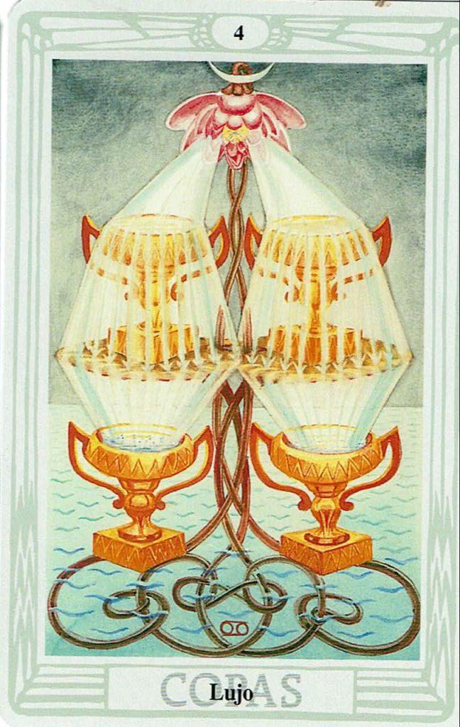 Cuatro de Copas del Tarot Thoth
