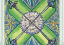 Cuatro de Espadas del Tarot Thoth
