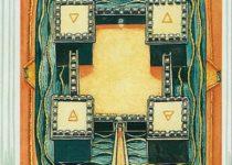 Cuatro de Oros del Tarot Thoth