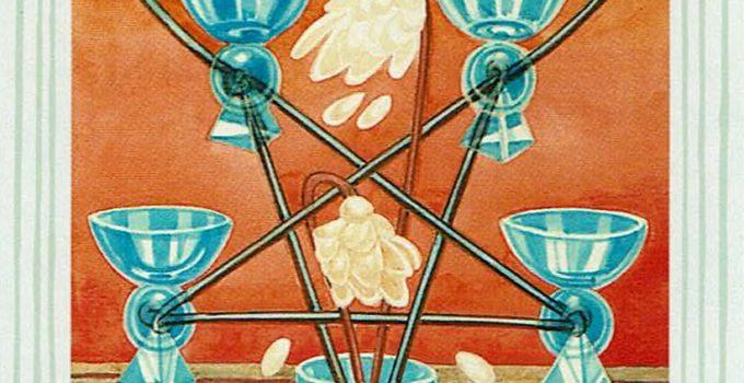 Cinco de Copas del Tarot Thoth