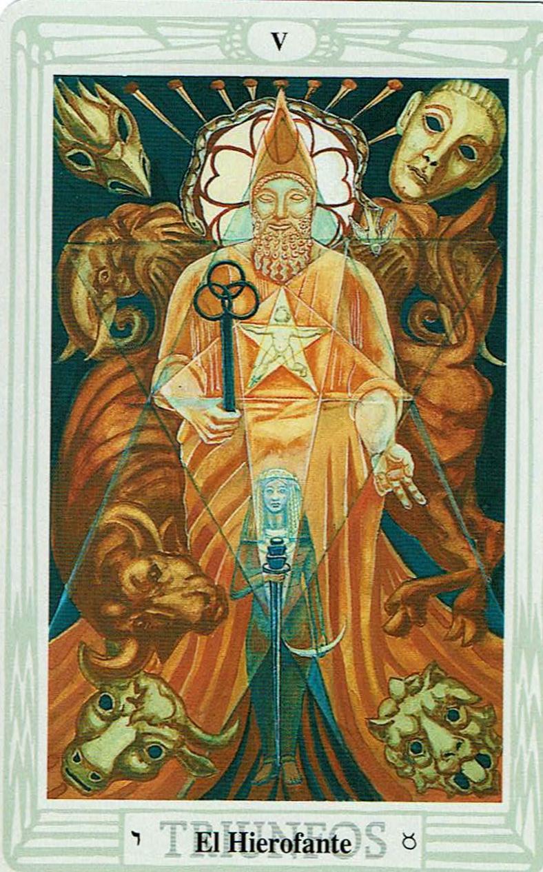 El Hierofante del Tarot Thoth