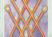 Seis de Bastos del Tarot Thoth