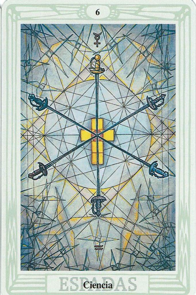 Seis de Espadas del Tarot Thoth