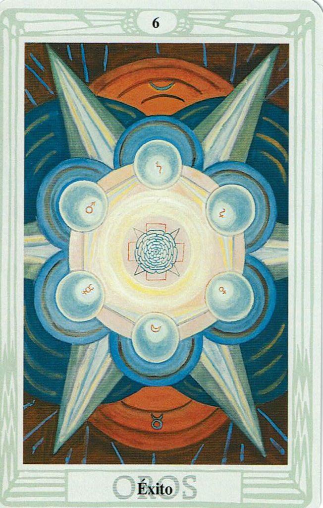 Seis  de Oros del Tarot Thoth
