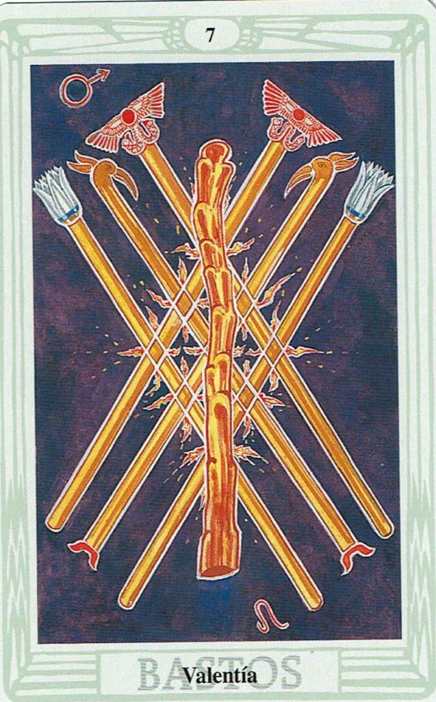 Siete de Bastos del Tarot Thoth