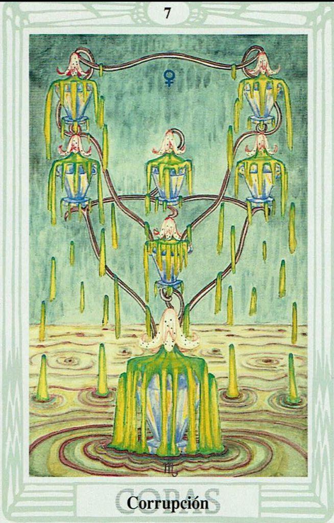 Siete de Copas del Tarot Thoth