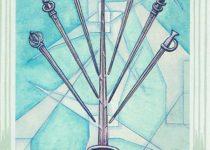 Siete de Espadas del Tarot Thoth