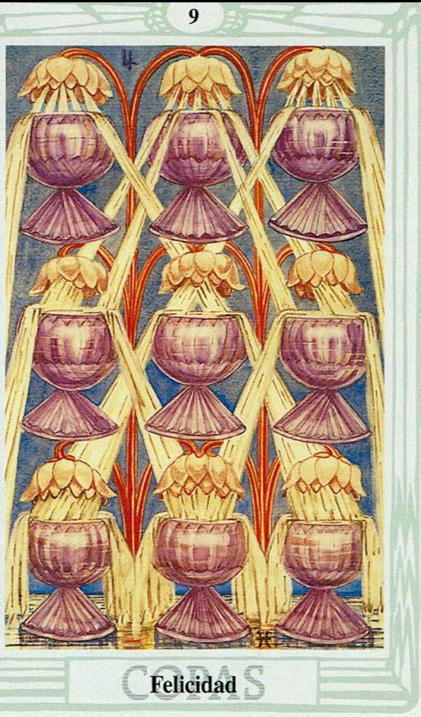 Nueve de Copas del Tarot Thoth