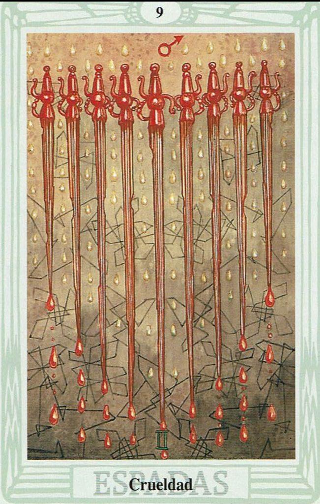 Nueve de Espadas del Tarot Thoth