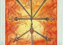 Diez de Espadas del Tarot Thoth