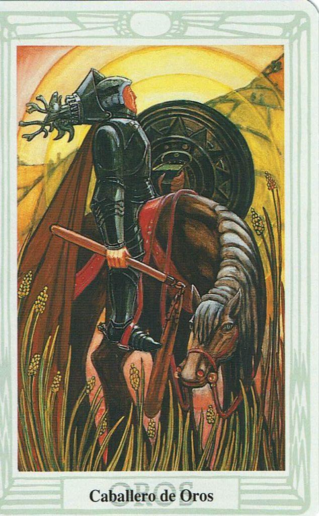 Caballero de Oros del Tarot Thoth