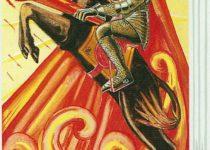Caballero de Bastos del Tarot Thoth