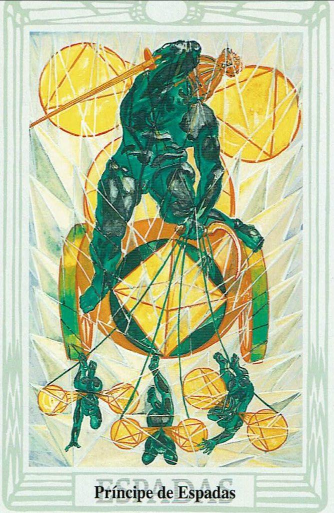 principe de Espadas del Tarot Thoth