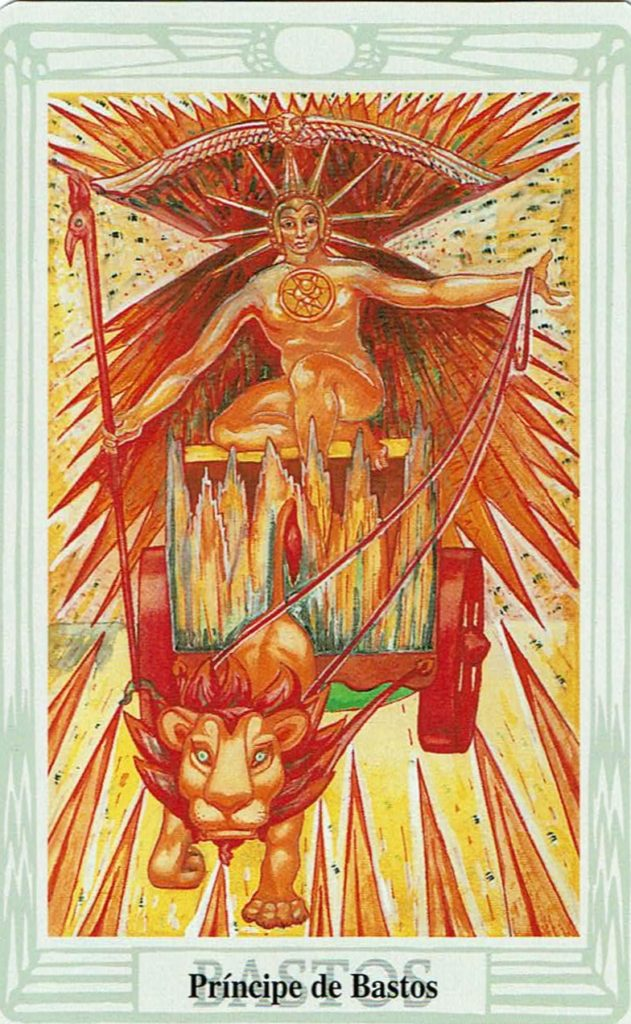 Príncipe de Bastos del Tarot Thoth
