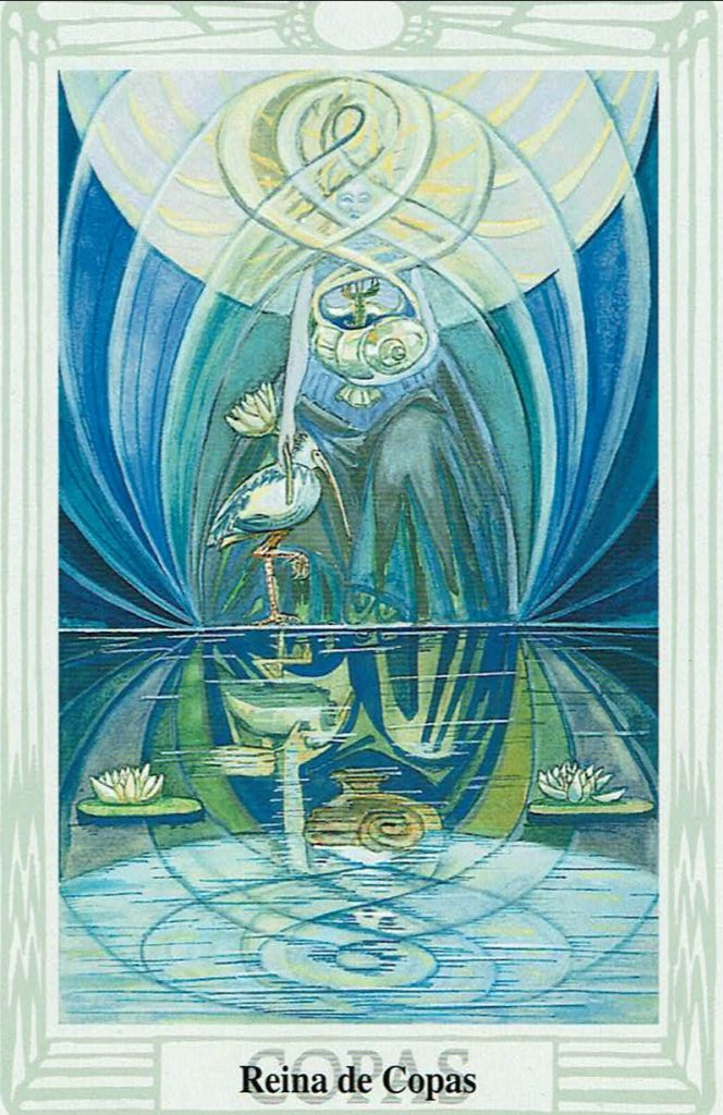 Reina de Copas del Tarot Thoth