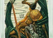 Reina de Oros del Tarot Thoth